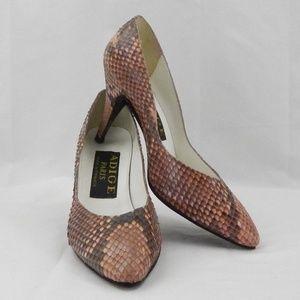 80s Vintage authentic snakeskin heels